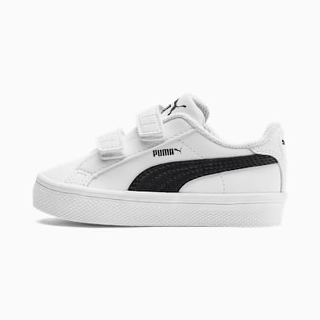 Basket Smash Vulc pour bébé, Puma White-Puma Black, small
