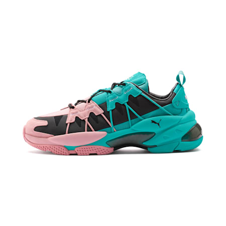 LQDCELL Omega Manga Cult Trainers, Bridal Rose-Blue Turquoise, small