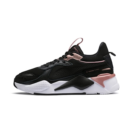RS-X Trophy Women's Sneakers, Puma Black-Rose Gold, small