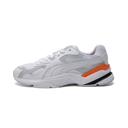 Axis SUPR Shoes, White-Grey D-J Orange-Black, small-IND