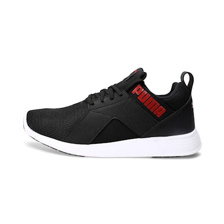 Zod Runner IDP Men's Running Shoes, Puma Black-High Risk Red, small-IND