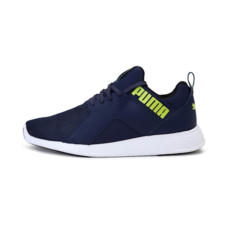 Zod Runner Men's Running Shoes, Peacoat-Limepunch, small-IND