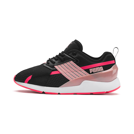 Muse X-2 Women's Sneakers, Puma Black-Bridal Rose, small