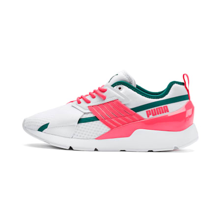 Muse X-2 Women's Trainers, Puma White-Pink Alert, small