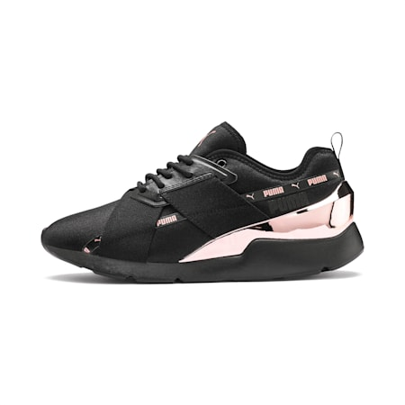 Muse X-2 Metallic Women's Trainers, Puma Black-Rose Gold, small-SEA