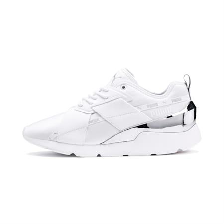Zapatos deportivos Muse X-2 Metallic para mujer, Puma White, pequeño