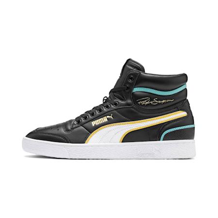 Ralph Sampson Mid Hoops Sneakers, Puma Blk-Puma Wht-Puma Wht, small