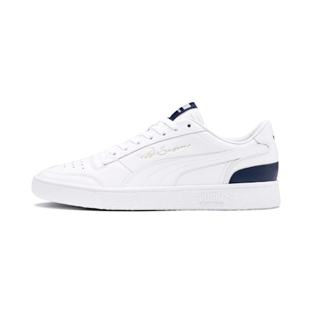PUMA Ralph Sampson Lo Sneaker, Puma Wht-Peacoat-Puma Wht, small