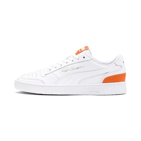 PUMA Ralph Sampson Lo Sneaker, PWhite-PWhite-Jaffa Orange, small