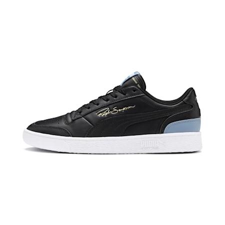 PUMA Ralph Sampson Lo Sneaker, Puma Blk-Puma Blk-FadedDenim, small