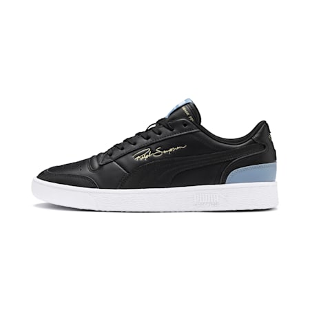 Ralph Sampson Lo Trainers, Puma Blk-Puma Blk-FadedDenim, small