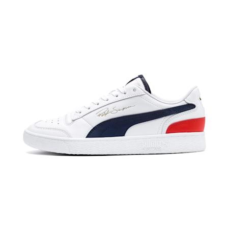 Ralph Sampson Lo Trainers, Puma White-Peacoat-Puma Red, small