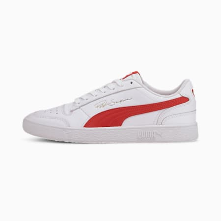 Ralph Sampson Lo Trainers, Puma White-High Risk Red, small