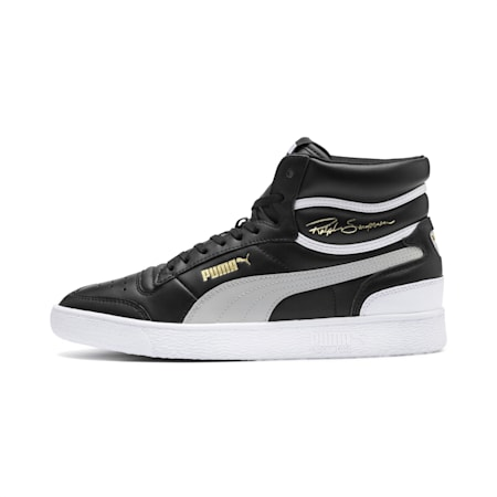 Ralph Sampson Mid Trainers, PumaBlk-Gray Violet-PumaWht, small