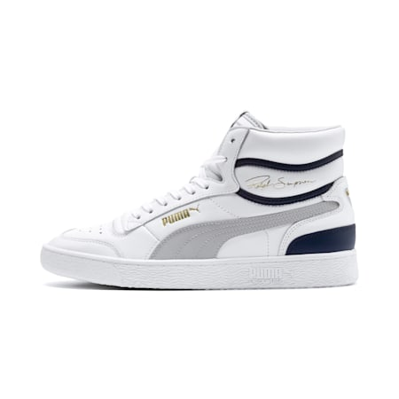 Ralph Sampson Mid Trainers, Puma White-Gray Violet-Peacoat, small