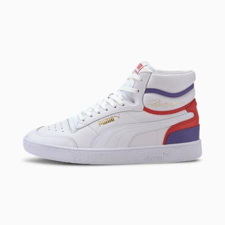 Ralph Sampson Mid Sneakers, P Wht-HiRisRd-PurplCoralites, small-IND