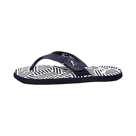 Breeze GU Men's Flip Flops, Peacoat-Puma White, small-IND