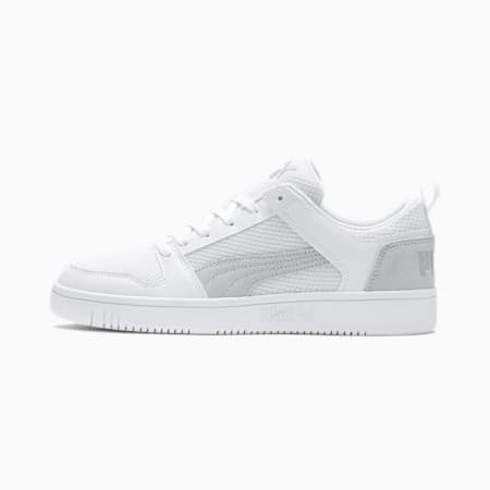 Rebound Lay-Up Lo Mesh Trainers, White-White-Gray Violet, small