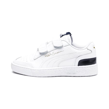 Ralph Sampson Lo V Kids' Trainers, White-Peacoat-White, small