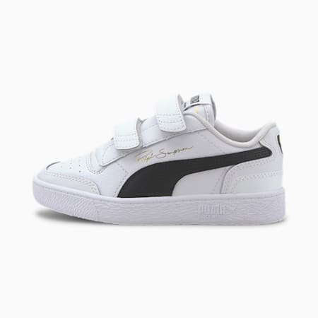 Ralph Sampson Lo V Kids' Trainers, Puma White-Puma Black-Puma W, small