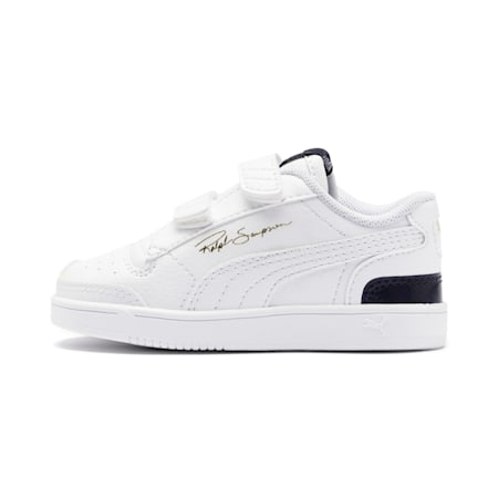 Ralph Sampson Lo V Babies' Trainers, White-Peacoat-White, small
