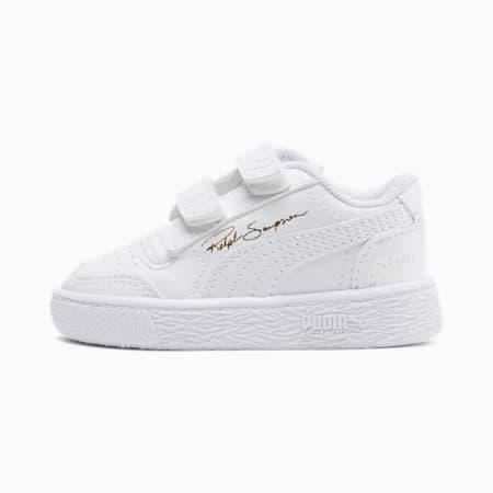 ZapatosRalph Sampson Low AC para bebés, Puma White-Puma W-Puma White, pequeño
