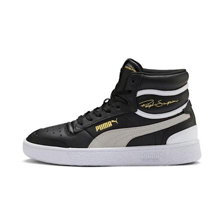 Ralph Sampson Mid Sneakers JR, Black-Gray Violet-White, small
