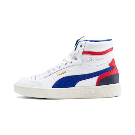 Ralph Sampson Mid Sneakers JR, White-SurfTheWeb-Marshmallow, small