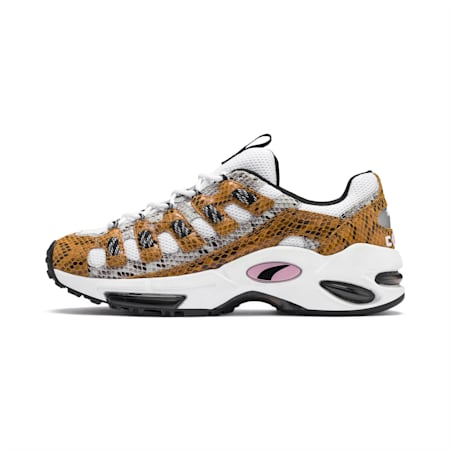 CELL Endura Animal Kingdom Trainers, Puma White-Golden Orange, small-IND