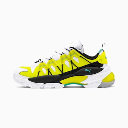 LQDCELL Omega Lab Training Shoes, Puma White-Yellow Alert, small