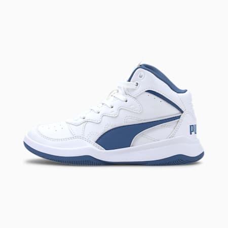 PUMA Rebound Playoff SL Little Kids' Shoes, Puma White-Bright Cobalt, small