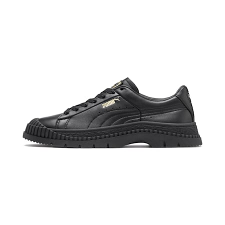 Utility Leather Women's Sneakers, Puma Black, small
