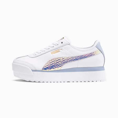 Roma Amor Metallic Women's Sneakers, Puma White-Puma Team Gold, small