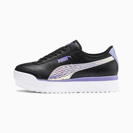 Roma Amor Metallic Women's Sneakers, Puma Black-Sweet Lavender, small