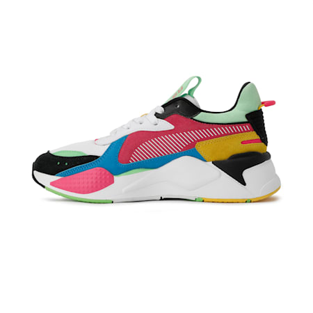 RS-X Reinvent Women's Sneakers, Puma Black-Puma White-Glowing Pink, small-IND
