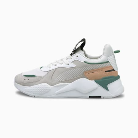 RS-X Reinvent Women's Sneakers, Puma White-Blue Spruce, small-SEA