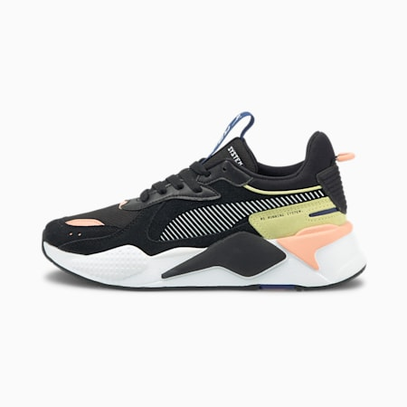 RS-X Reinvent Women's Sneakers, Puma Blk-Apr Blush-Ylw Pear, small-SEA