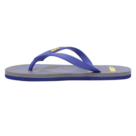 Neon Men's Flip Flops, StGray-SurfTheWeb-BlazYellow, small-IND