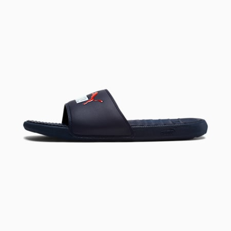 Cool Cat Men's Slides, Peacoat-PWhite-HRRed, small