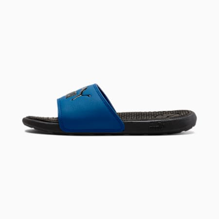 Cool Cat Kids' Slides JR, Puma Black-Royal Blue, small