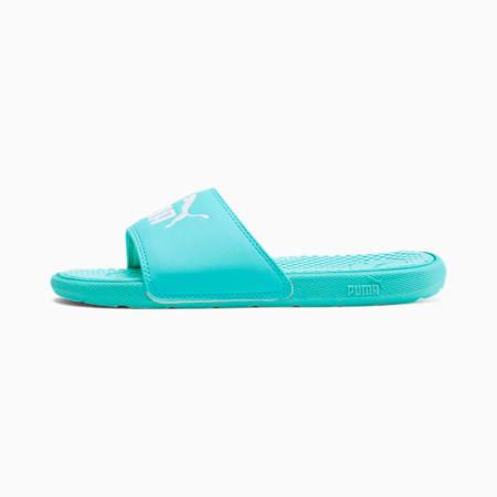 Cool Cat Kids' Slides JR, ARUBA BLUE-Puma White, small