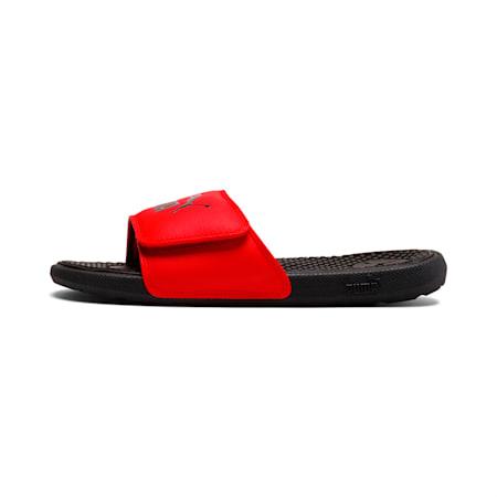 Cool Cat V Kids' Slides JR, High Risk Red-Puma Black, small