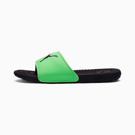 Cool Cat Sport Slides JR, Puma Black-Summer Green, small
