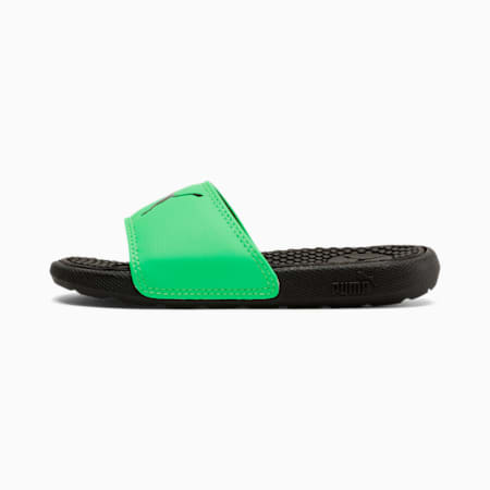 Cool Cat Sport Little Kid's Slides, Puma Black-Summer Green, small