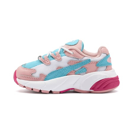 CELL Alien Cosmic Babies' Trainers, Bridal Rose-Milky Blue, small