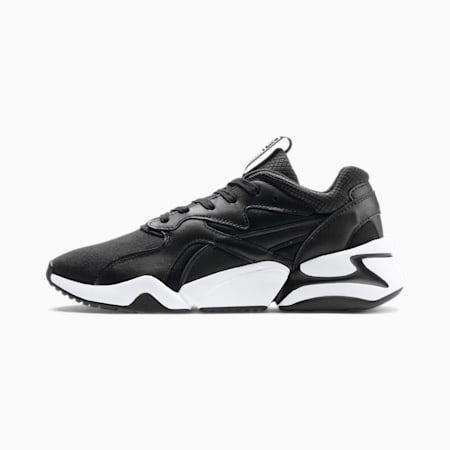 Nova Gleam Damen Sneaker, Puma Black-Puma Black, small
