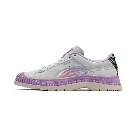 Women's Utility Dimension Trainers, Silver Birch-Orchid Bloom, small-SEA