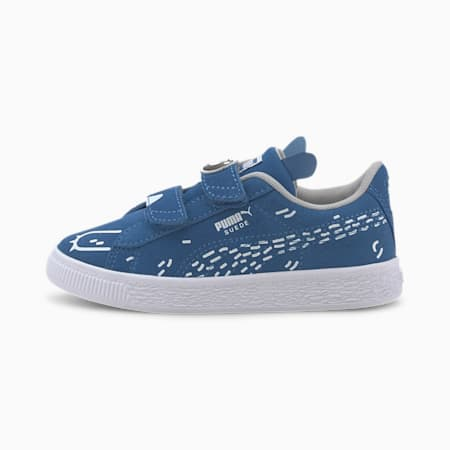 Suede Monster Family Kids' Trainers, Bright Cobalt-Puma White, small-SEA