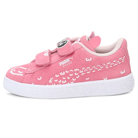 Suede Monster Family Kids' Sneakers, Peony-Puma White, small-IND