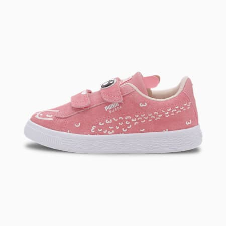 Suede Monster Family Kids' Trainers, Peony-Puma White, small-SEA